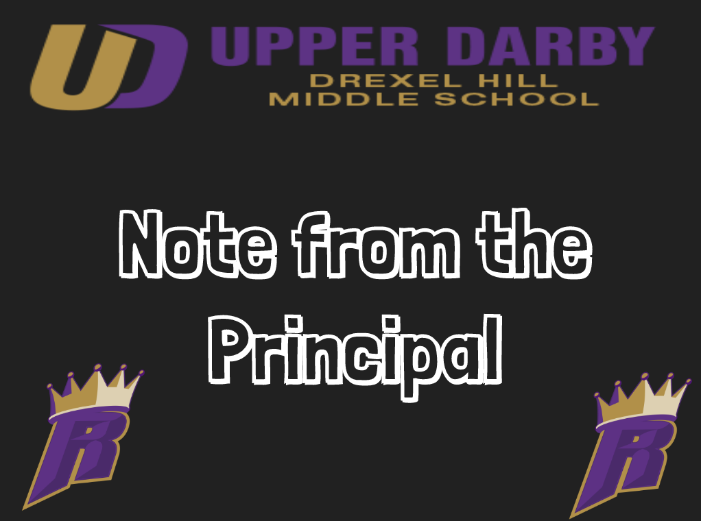 Weekly Note From the Principal