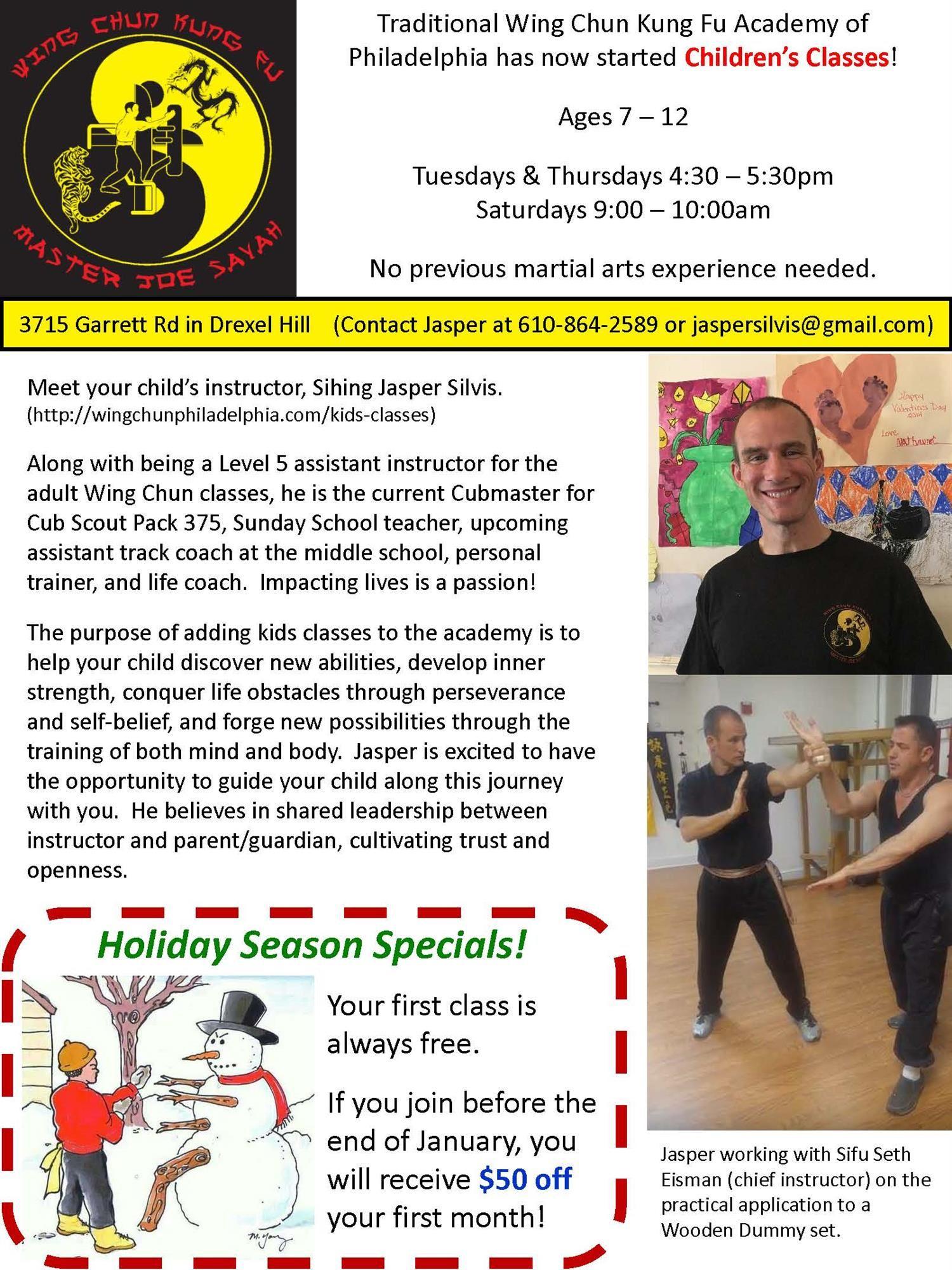 Traditional wing chun kung fu - Tyler elementary school