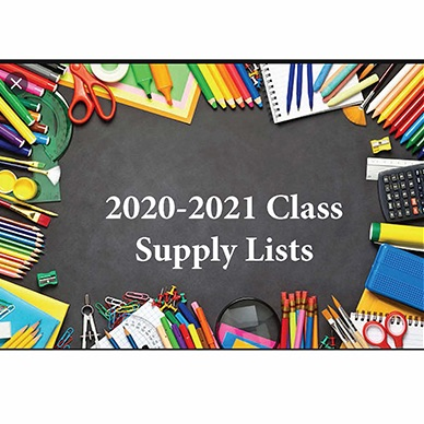 2020-2021 Class Supply Lists