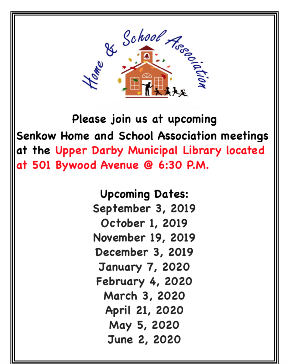 Home and School Dates 2019 - 2020