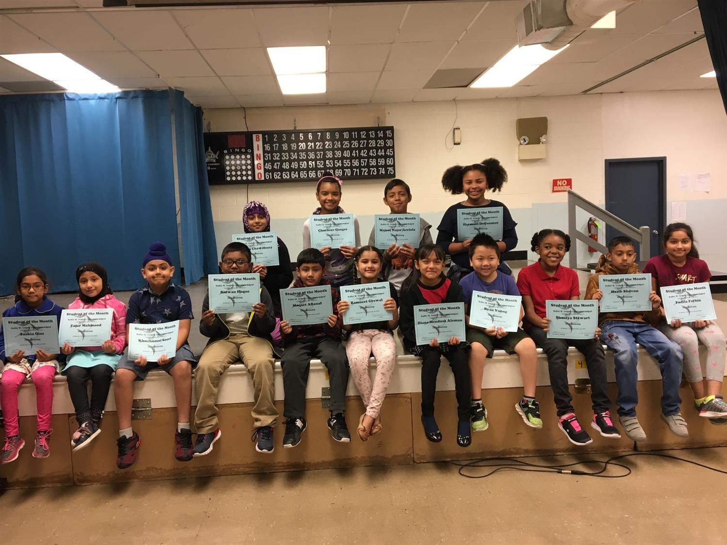 January Student of the Month - Topic: Kindness