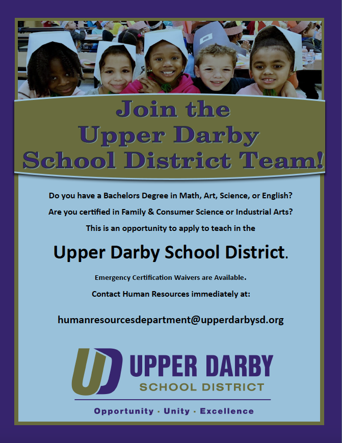 Join the Upper Darby School District Team