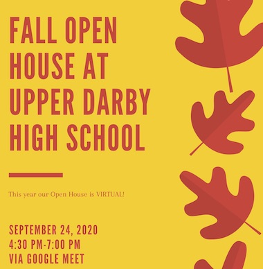 UDHS Fall Open House - Virtual
